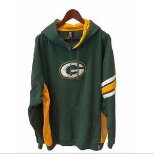 NFL Green Bag Packers Fleece Hoodie Sweatshirt 2XL
